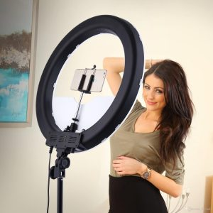 den led tron ring light camera photo